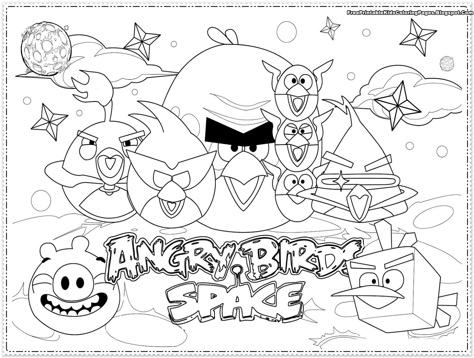 Angry Birds kids Coloring Pages
