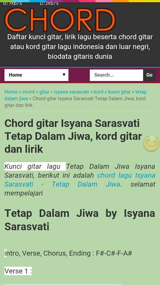 missing lyrics: Aplikasi Android Kumpulan Chord Gitar Lengkap