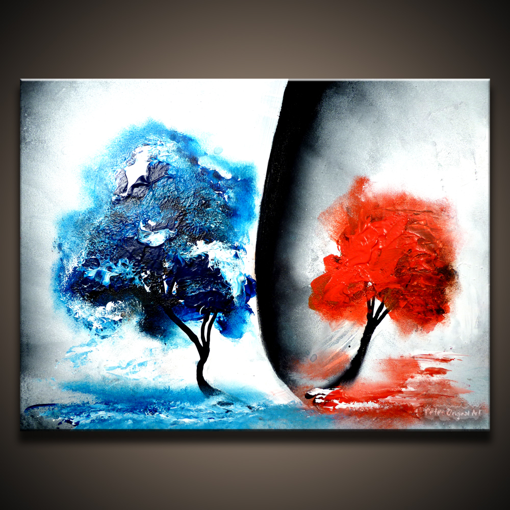 Easy abstract acrylic paintings the for Easy to do abstract paintings