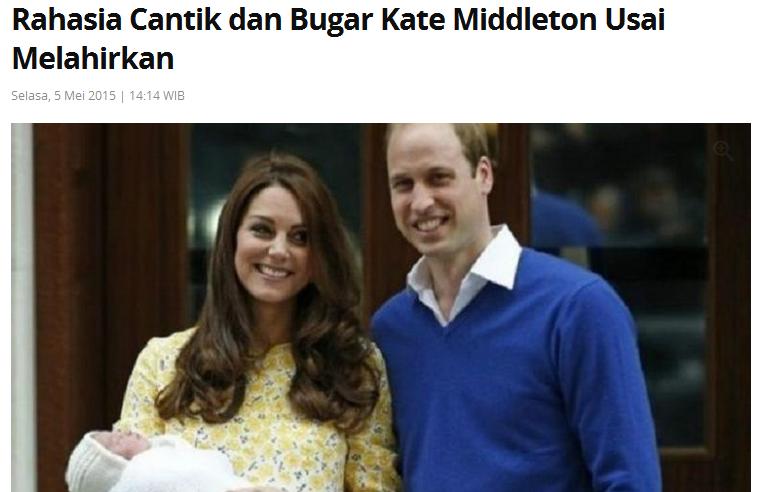 Wah.. Berat Badan Kate Middleton Tidak Sehat