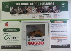 Defibrillatore donato nel 2015 allo Stadio Comunale di Atletica E. Zatopek