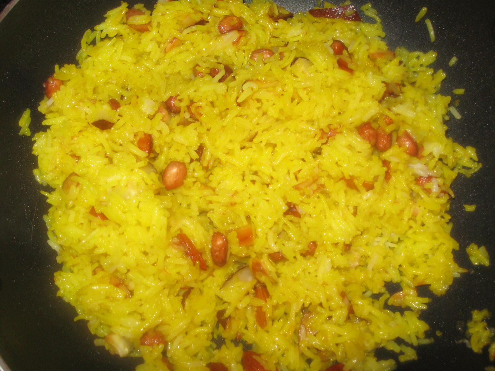 Indian Vegetarian Recipes: Sweet Rice/Zarda