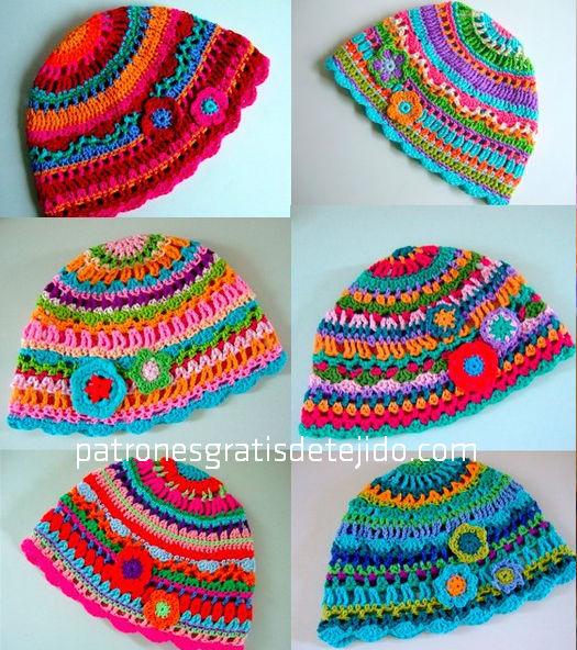 Cómo tejer un gorro multicolor al crochet / paso a paso  of Terminacion de gorro de agujas