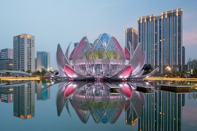 Edificio Flor de Loto en China