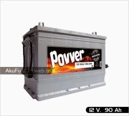 povver akü silver serisi 12 volt 90 amper