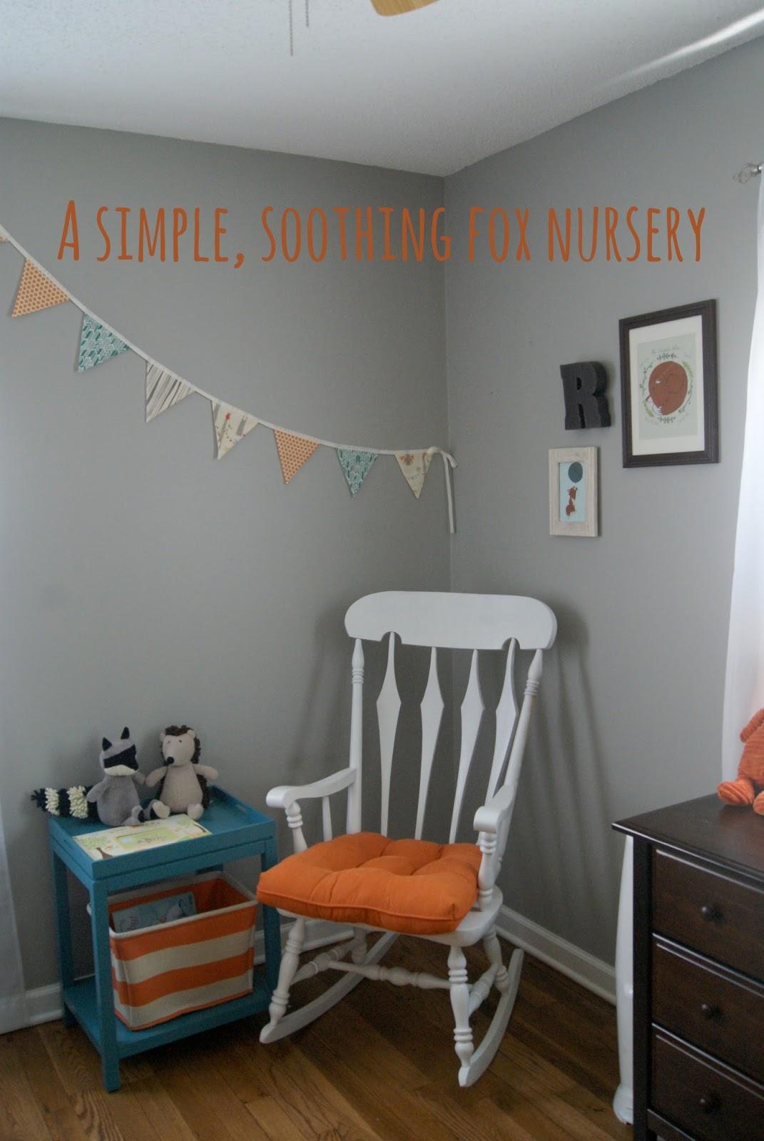 A soothing fox nursery for Rhys