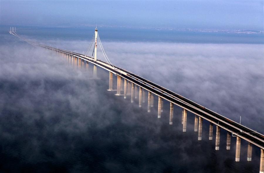 Huangdao  it is the world s longest cross-sea bridge at over 26 milesLongest Bridge In The World Over Water