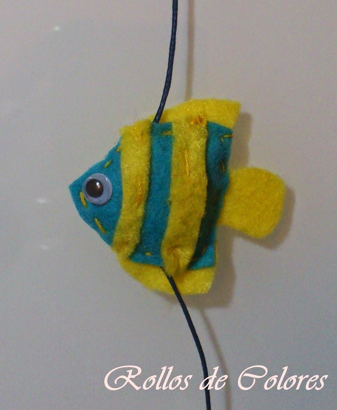 Fieltro pez mar