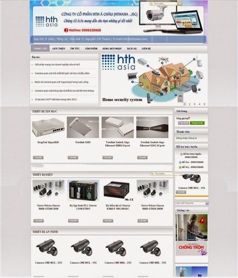 thiết kế web bán hàng gia dụng chuyên nghiệp