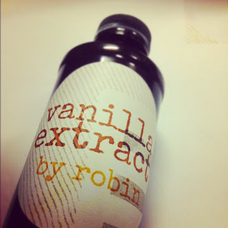 This is homemade DIY vanilla extract made from scratch from alcohol and vanilla beans. DIY label, homemade label, labels at home, word