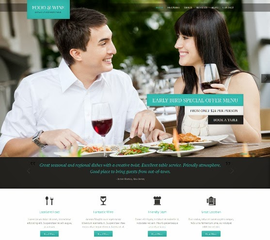 Food Wine Responsive WordPress Theme