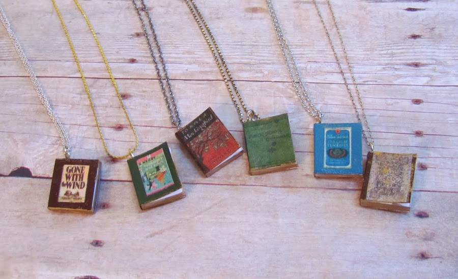 How To Make A Book Quote Pendant ~ How to make tiny book charm tutorials the beading gem s