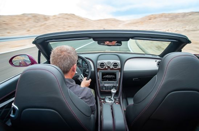 interior of 2014 Bentley Continental GT Speed sports car convertible