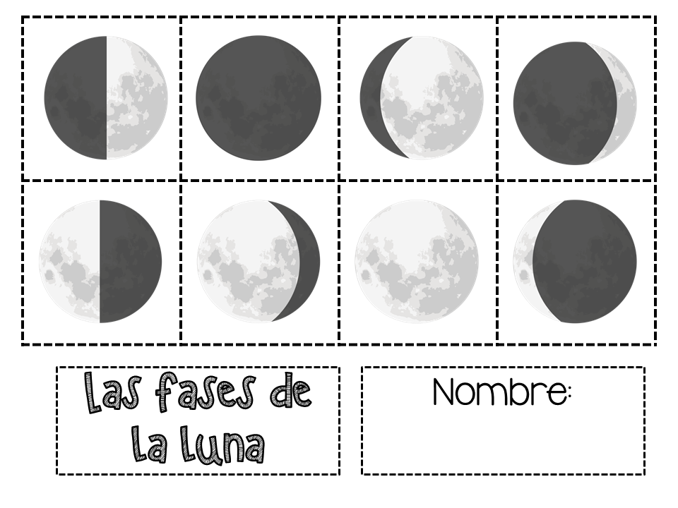 Bitty bilinguals our week on the moon and earth for Q fase de luna es hoy
