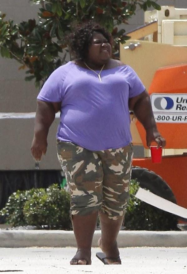black obese en photos
