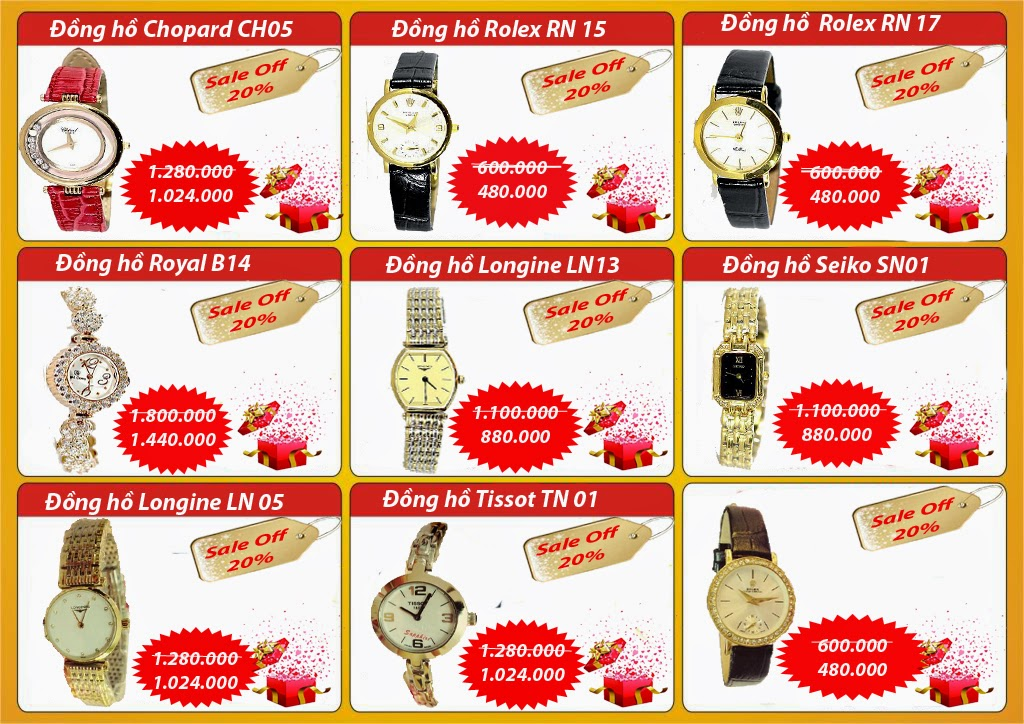 Khuyến mại đồng hồ nữ