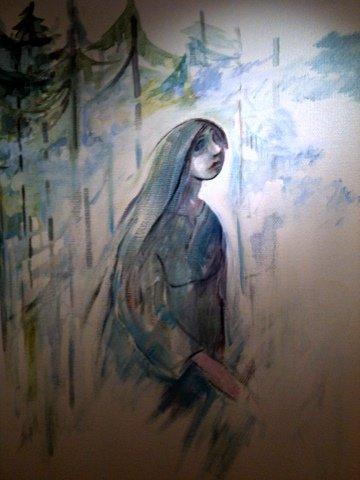 Värmlands landstings ansvarige Elsa Hallbäck, gav order att måla över denna bild.