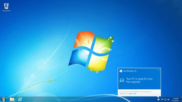 Windows 10 upgrade notify