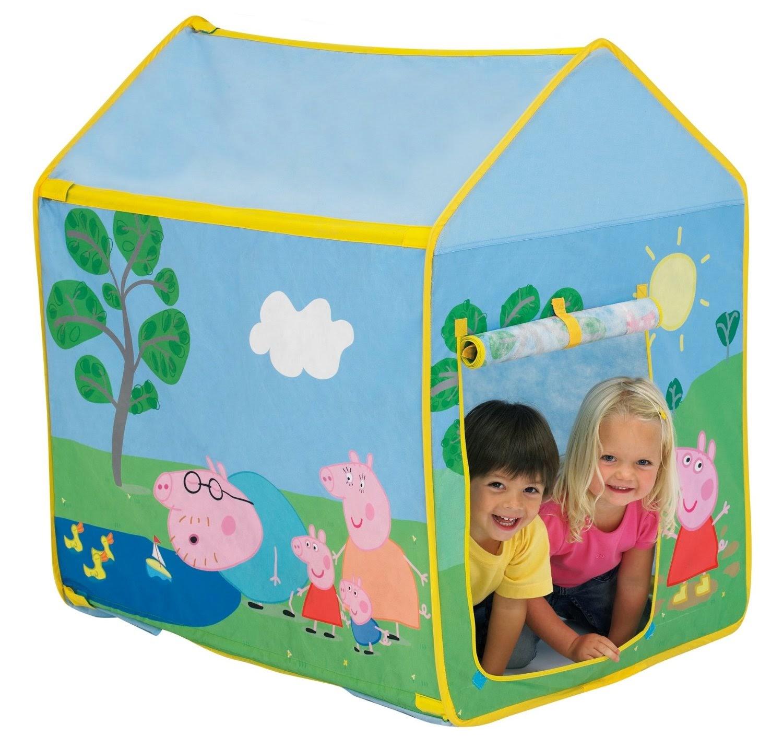 TOYS - PEPPA PIG - Tienda de campaña   Para jugar dentro de casa o exteriores  (ver página en Amazon)  A partir de 2 años