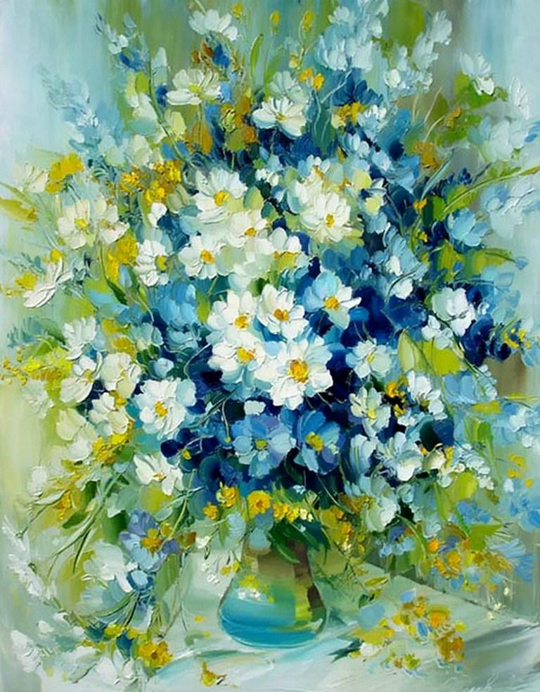 Картины маслом на холсте цветы