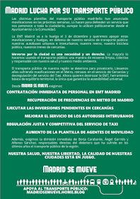 Madrid lucha por su transporte público