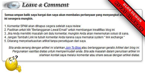 gambar demo pesan komentar