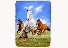 Grosir Selimut Kendra Soft Panel Blanket Horse