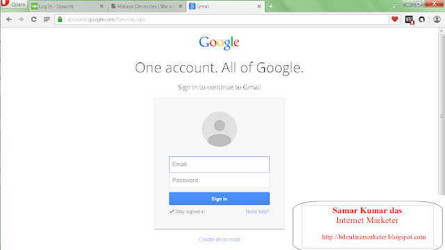 Create Gmail Account Fast >> Bd Online Marketer How To Create A Gmail Account