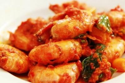 Udang Balado. i-Kuliner