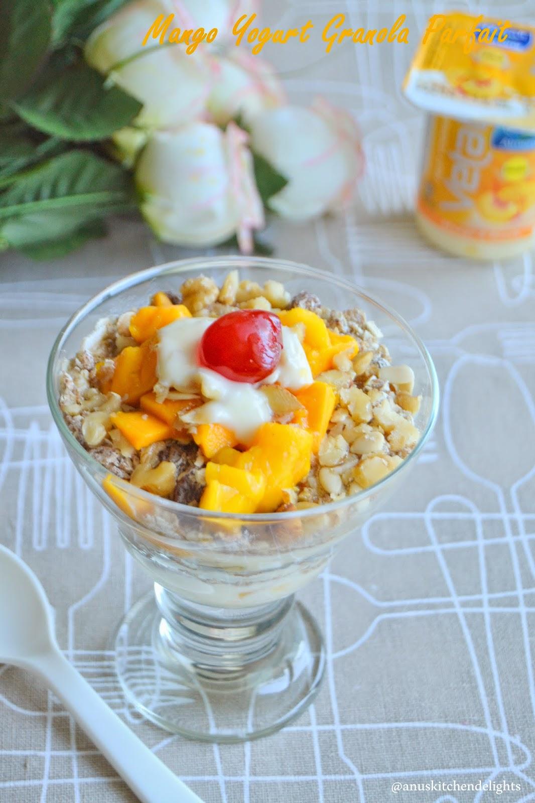 Mango Yogurt Granola Parfait