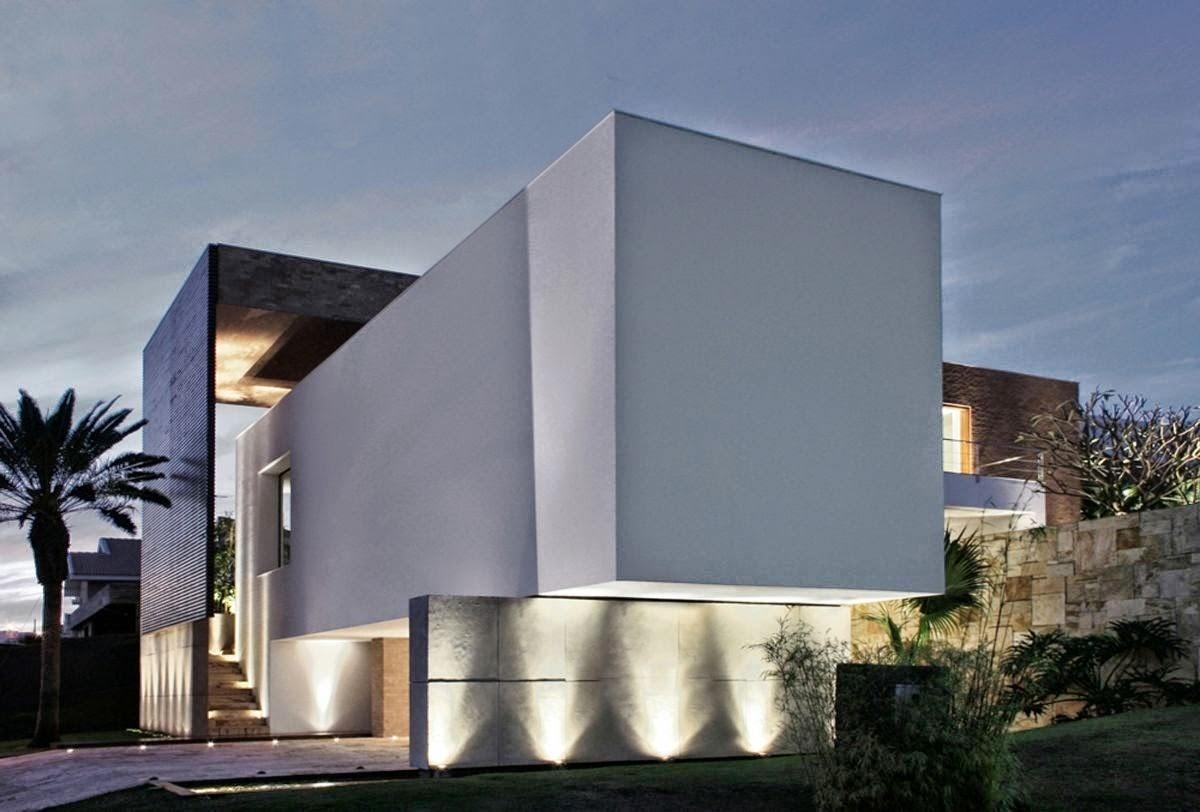 Casa fina decor fachadas de casas modernas com paisagismo for Casa moderna 9 mirote y blancana