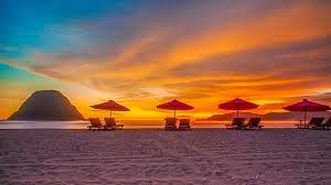 sunset di Pulau merah Banyuwangi jawa timur
