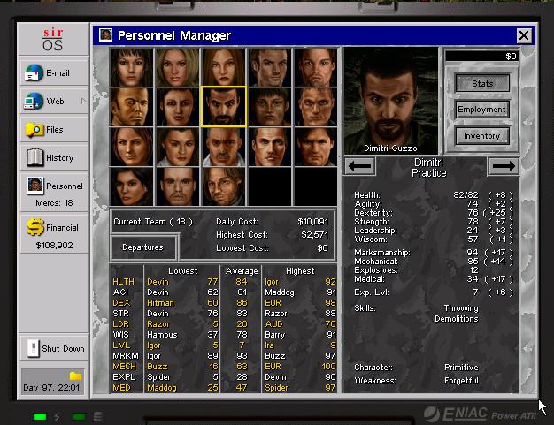 Jagged Alliance 2 - Dimitri Guzzo