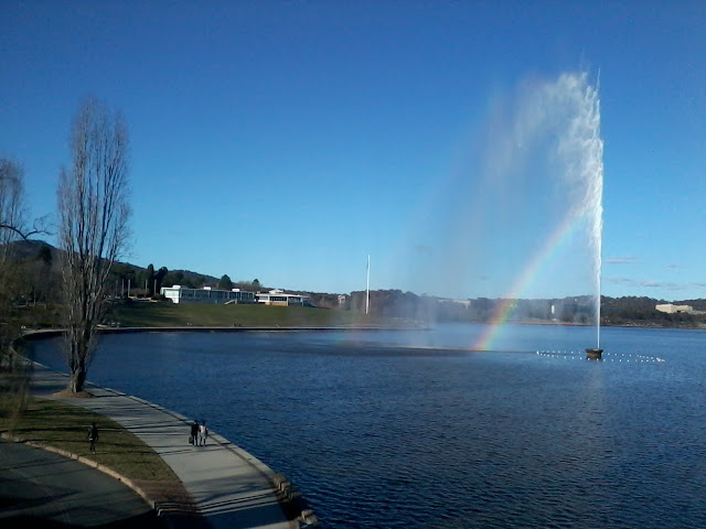 Rainbow Over Lake Burley Griffin