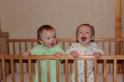 They loved to play in the crib together...jumping up and down, up and down, giggling all the way!