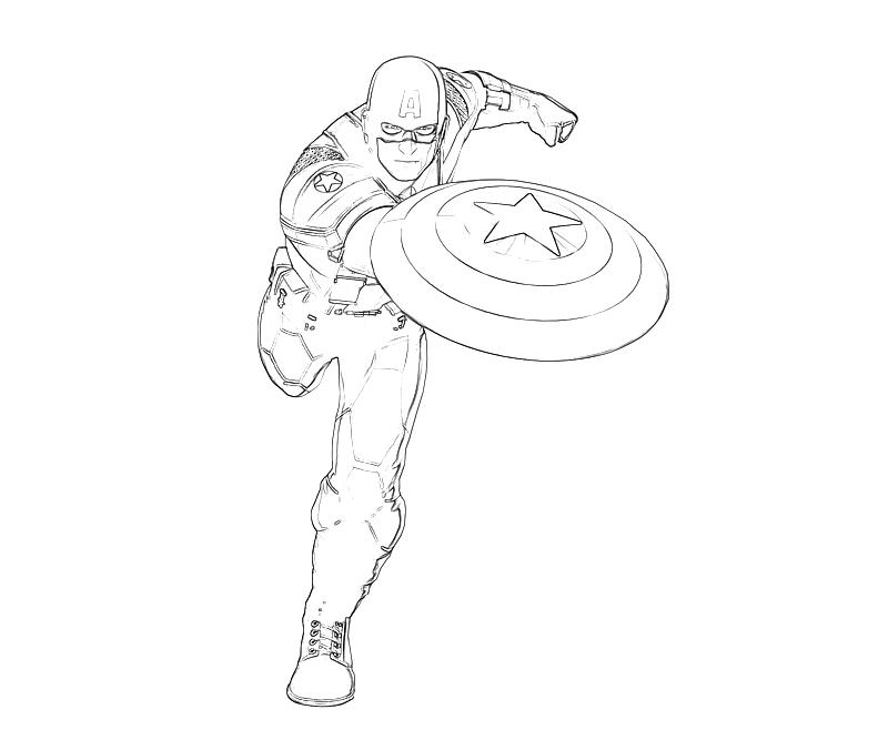 Captain america captain america attack jozztweet for Coloring pages captain america