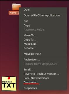 DominioTXT - Compactar 7Zip Linux