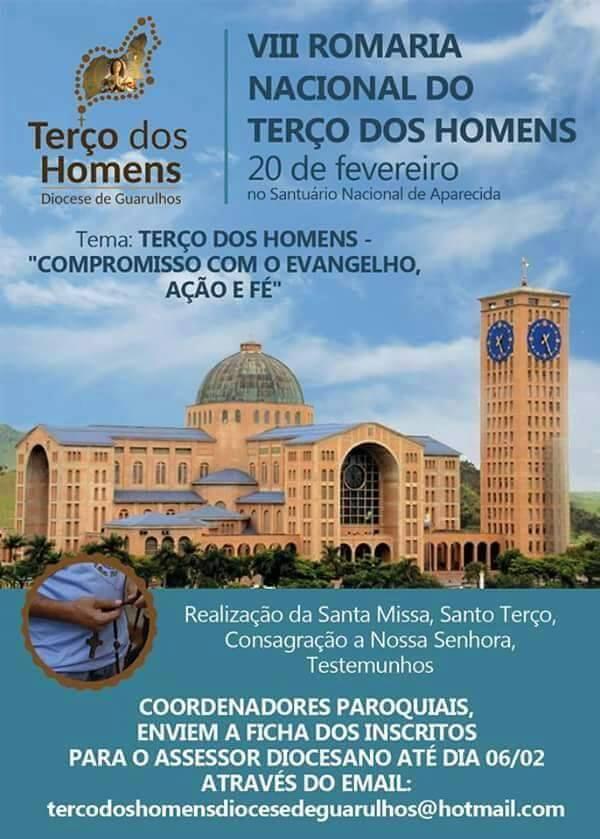 VIII ROMARIA NACIONAL DO TERÇO DOS HOMENS - APARECIDA - SÃO PAULO