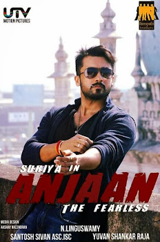 Poster Of Anjaan Tamil Movie Hindi Dubbed 100MB HEVC Mobile Movie Watch Online Free Download