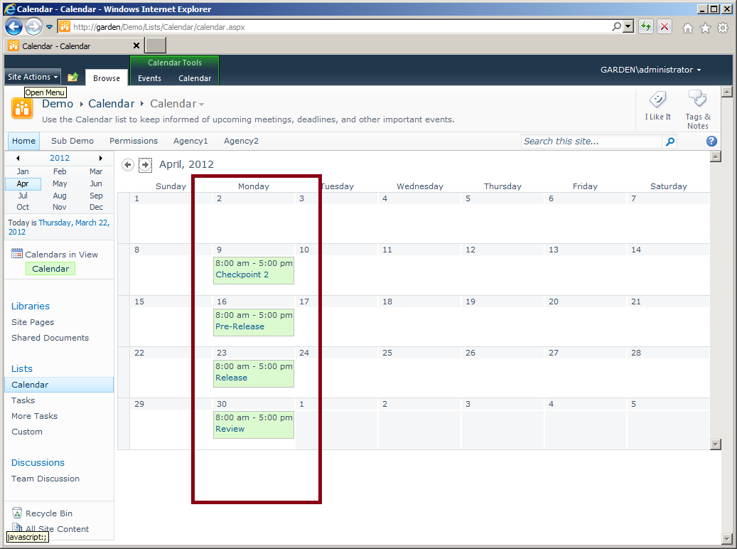 intelligantt  ms project tasks to sharepoint calendar events