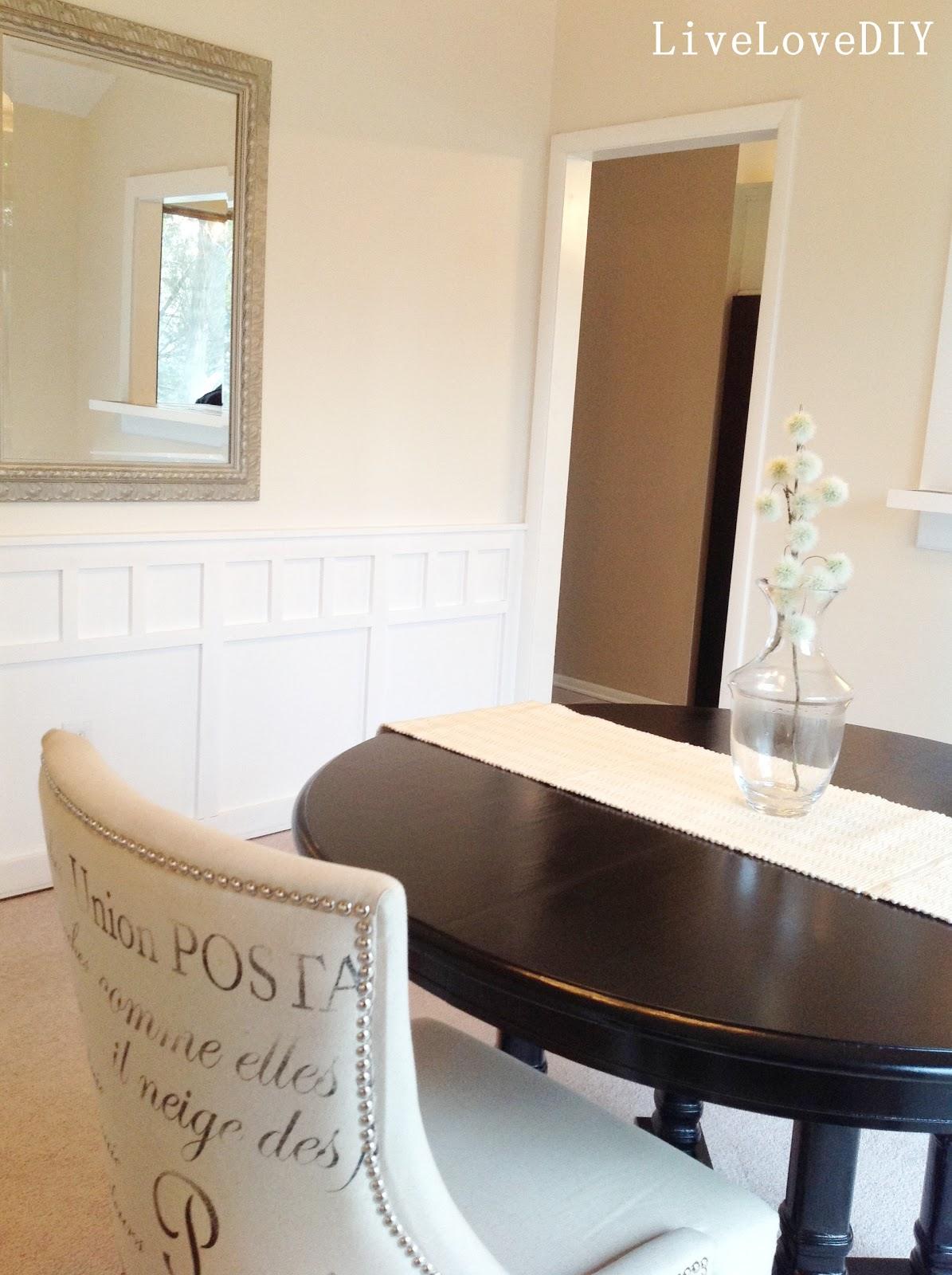 Black painted dining table - Black Painted Dining Table 33