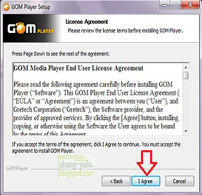 lisensi agreement gom player