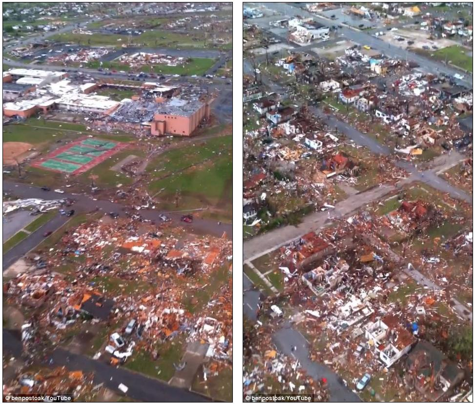 America's deadliest tornado for 64 years: Terrifying twister cuts six-mile swathe through a Missouri town, leaving up to 116 dead