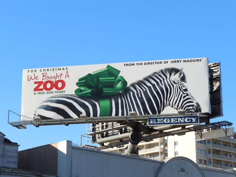 We Bought a Zoo zebra billboard