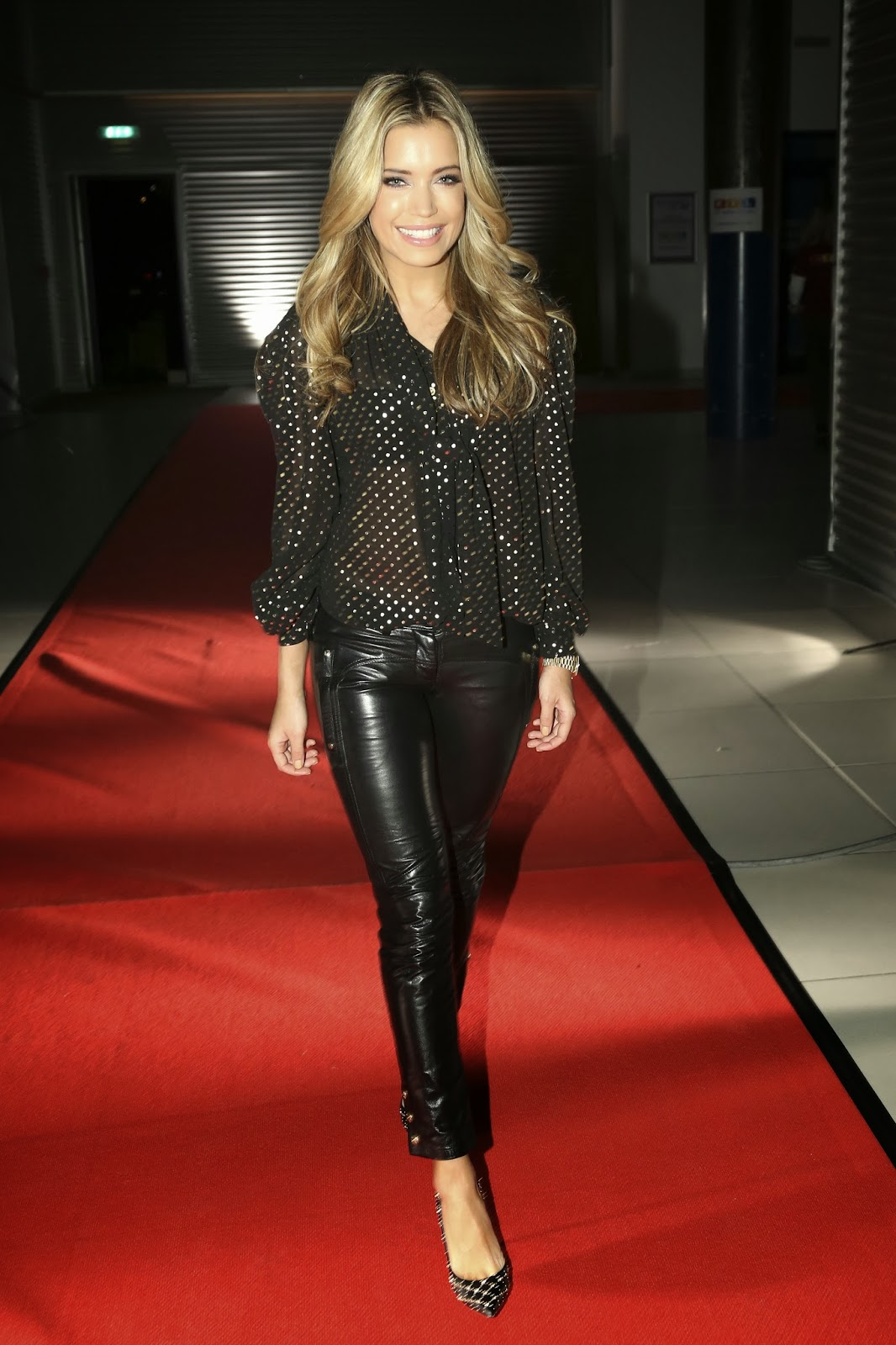 Lovely Ladies In Leather Sylvie Meis In Leather Pants