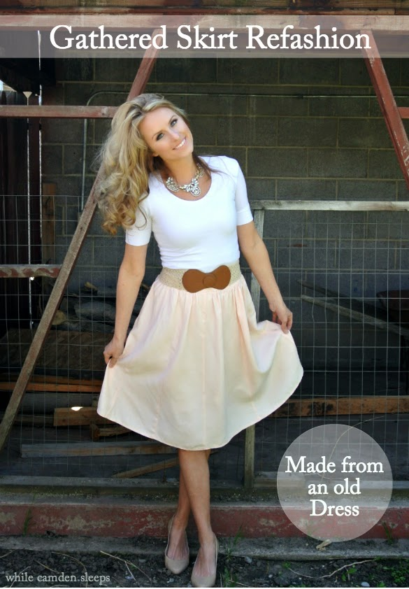 dress to full skirt refashion