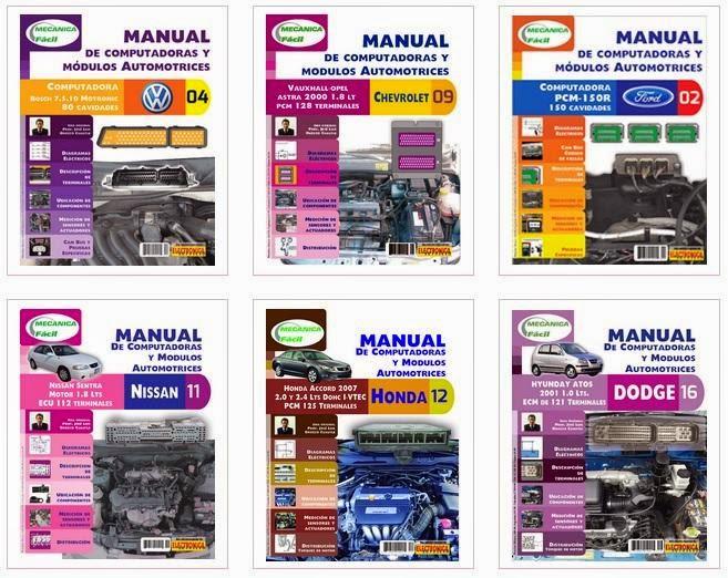 Manuales de servicio de computadoras y módulos automotrices
