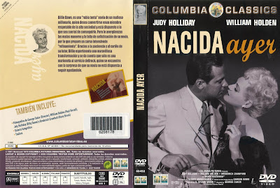 Cover, Carátula, DvD: Nacida ayer | 1950 | Born Yesterday