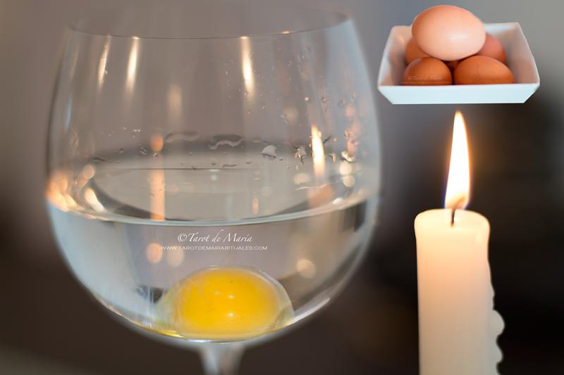 ritual limpia del huevo y la copa de agua para el mal de