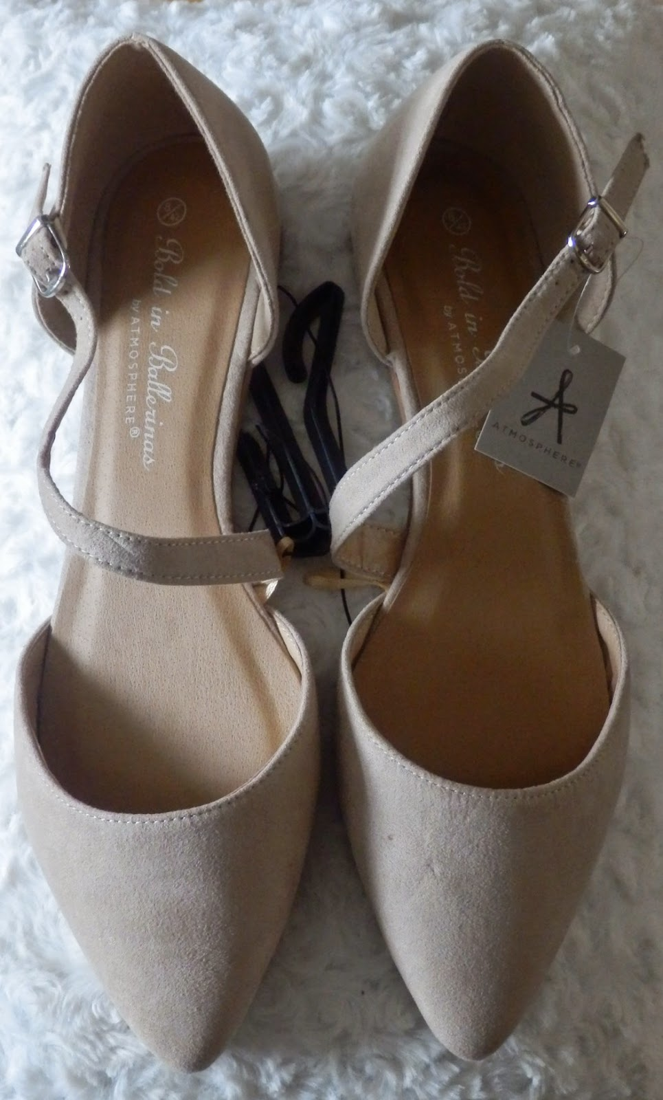 Primark Cross Over Strap Cream Shoes